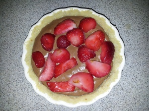 chocolate and strawbery tart