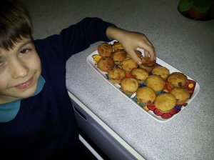 My older son is my greatest taster for my recipes
