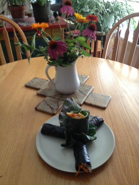 leftovers with flowers